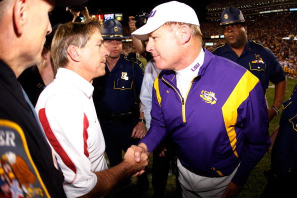 Nick Saban and Les Miles