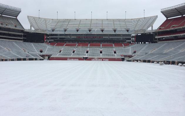 Bryant-Denny Stadium Snow