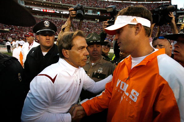 Nick Saban and Lane Kiffin